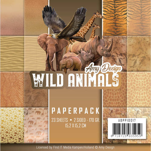 Card Deco - Amy Design - Paperpack - Wild Animals