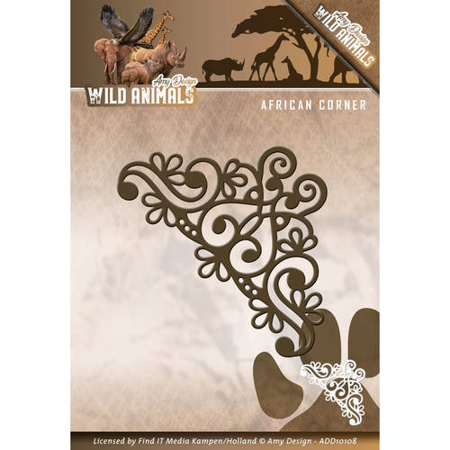 Card Deco - Amy Design - Die - Wild Animals - African Corner