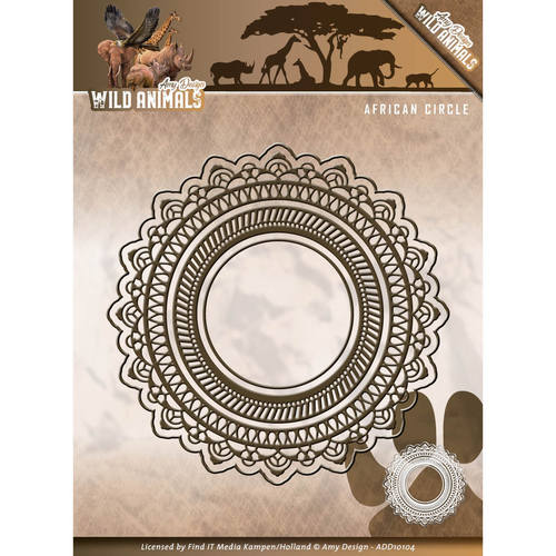Card Deco - Amy Design - Die - Wild Animals - African Circle - ADD10104