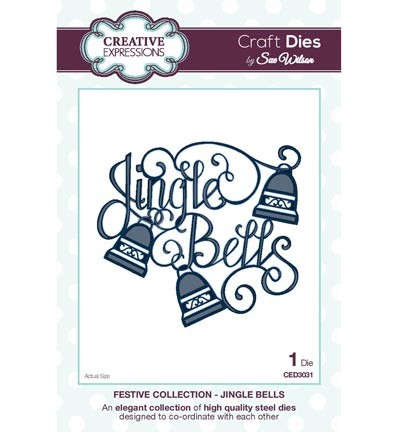 Creative Expressions - Die - The Festive Collection - Jingle Bells