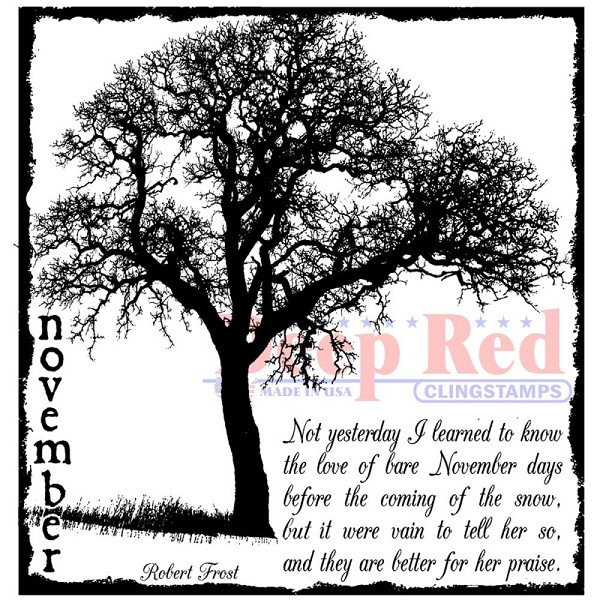 Deep Red - Cling Stamp - November Frost - 4X505591