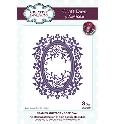 Creative Expressions - Die - The Frames & Tags Collection - Rose Oval - CED4330
