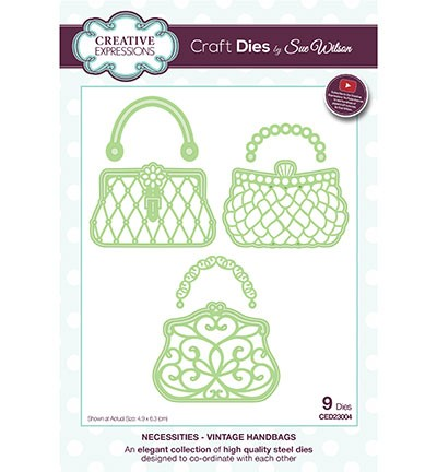 Creative Expressions - Die - The Necessities Collection - Vintage Handbags - CED23004
