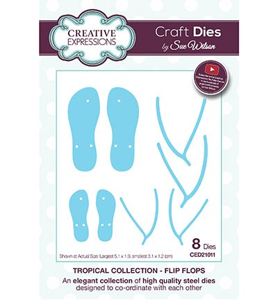 Creative Expressions - Die - The Tropical Collection - Flip Flops