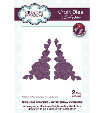 Creative Expressions - Die - The Finishing Touches Collection - Rose Spray Corners