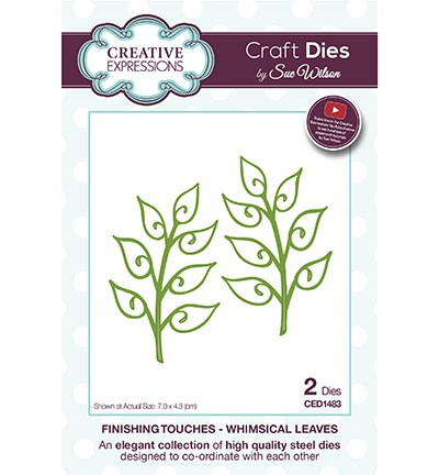 Creative Expressions - Die - The Finishing Touches Collection - Whimsical Leaves