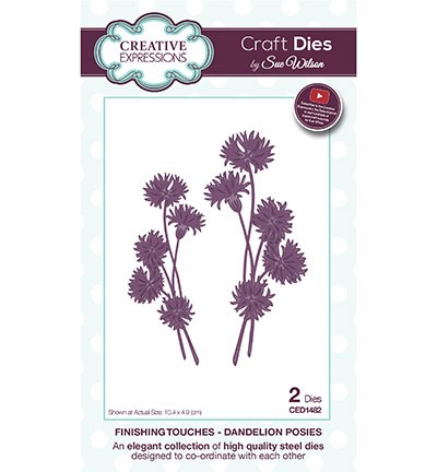 Creative Expressions - Die - The Finishing Touches Collection - Dandelion Posies - CED1482