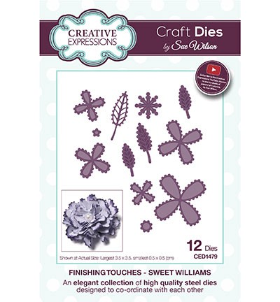 Creative Expressions - Die - The Finishing Touches Collection - Sweet Williams - CED1479
