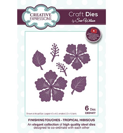 Creative Expressions - Die - The Finishing Touches Collection - Tropical Hibiscus - CED1477