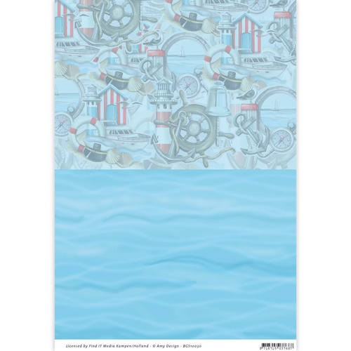 Card Deco - Amy Design - Achtergrondpapier - Martime - BGS10030