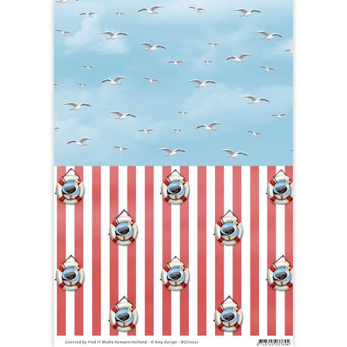 Card Deco - Amy Design - Achtergrondpapier - Maritime - BGS10031