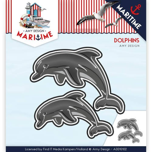Amy Design - Die - Martime - Dolphins - ADD10102