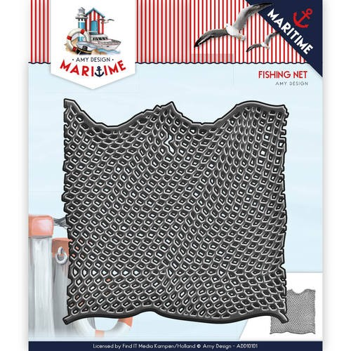 Amy Design - Die - Martime - Fishing Net - ADD10101
