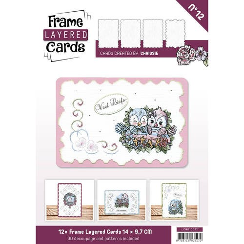 Card Deco - Frame Layered Cards - Book A6 - No. 12 - LCA610012