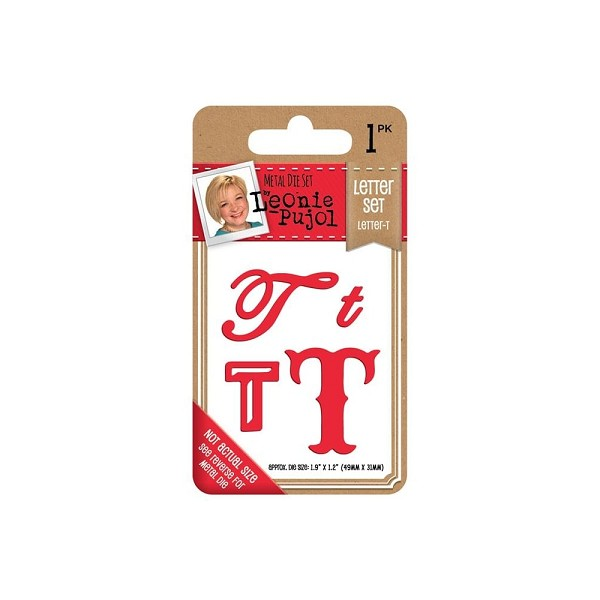 Crafter`s Companion - Leonie Pujol - Die - Letter set - Letter T - LP-MD-LETT