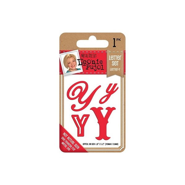 Crafter`s Companion - Leonie Pujol - Die - Letter set - Letter Y - LP-MD-LETY