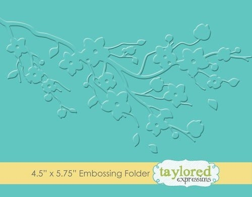 Taylored Expressions - Embossingfolder - Cherry Blossom