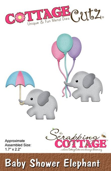 Cottage Cutz - Die - Baby Shower Elephant - CC293