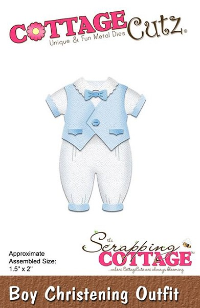 Cottage Cutz - Die - Boy Christening Outfit - CC297