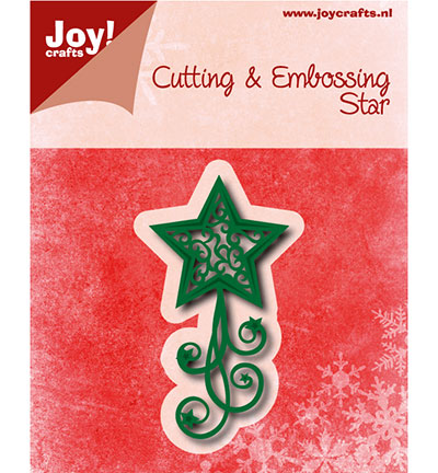 Joy! crafts - Noor! Design - Die - Kerstster met swirls