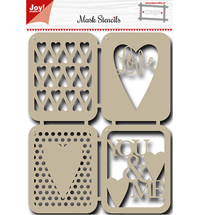 Joy! crafts - Maskingstencil - Liefde - 6002/0826