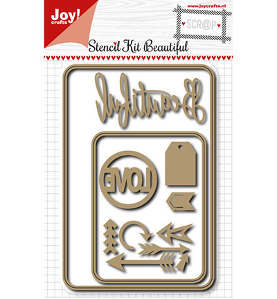 Joy! crafts - Noor! Design - Die - Stencil kit - Beautiful Love
