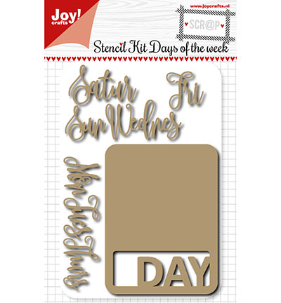 Joy! crafts - Noor! Design - Die - Stencil kit - Days of the week