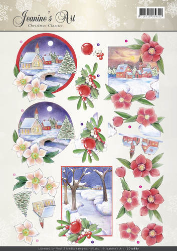 Jeanine`s Art - 3D-knipvel A4 - Christmas Classics - Christmas Landscapes - CD10887