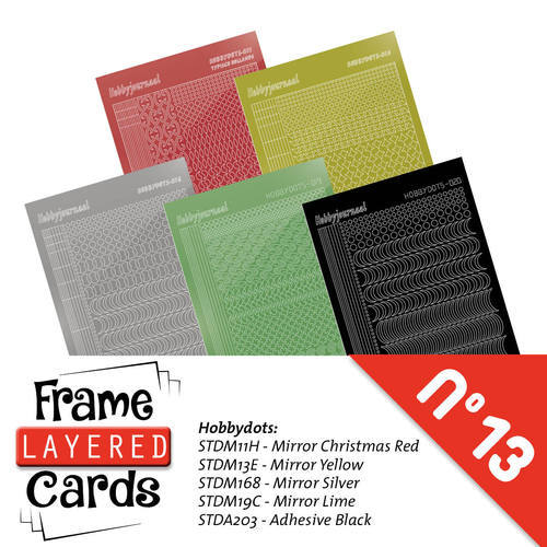 Hobbyjournaal - Stickerset - Frame Layered Cards A6 - no. 13 - LCST013