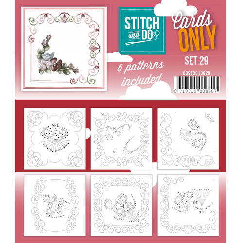Card Deco - Stitch & Do - Oplegkaarten - Cards only - Set 29 - COSTDO10029