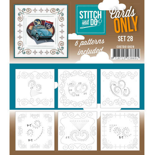 Card Deco - Stitch & Do - Oplegkaarten - Cards only - Set 28 - COSTDO10028