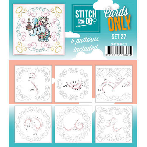 Card Deco - Stitch & Do - Oplegkaarten - Cards only - Set 27 - COSTDO10027
