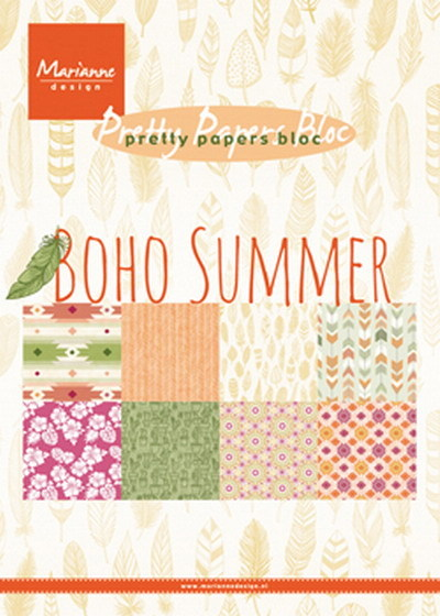 Marianne Design - Paperpack - Pretty Papers - Boho summer - PK9148