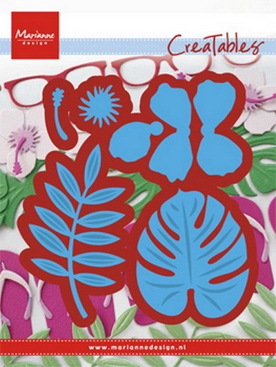 Marianne Design - Die - CreaTables - Hibiscus & tropical leaves - LR0478