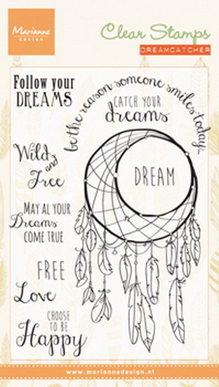 Marianne Design - Clearstamp - Dreamcatcher sentiments - CS0989