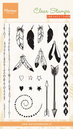 Marianne Design - Clearstamp - Feathers - CS0990