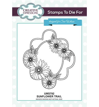 Creative Expressions - Cling Stamp - Stamps To Die For - Sunflower Trail