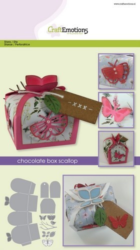 CraftEmotions - Die - Doosjes - Chocolate Box Butterfly - 115633/1504