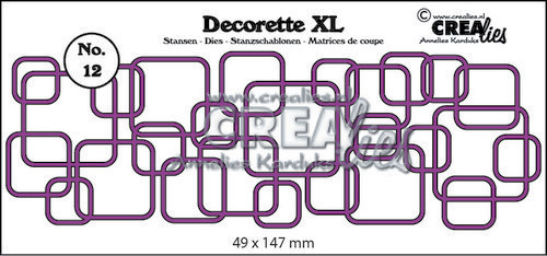 Crealies - Die - Decorette XL - No. 12 - Interlocking squares