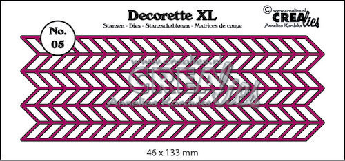 Crealies - Die - Decorette XL - No. 05 - Zigzag