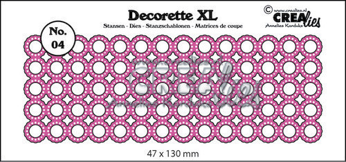 Crealies - Die - Decorette XL - No. 04 - Circles with dots