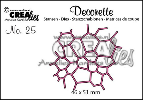 Crealies - Die - Decorette - No. 25 - Mosaic