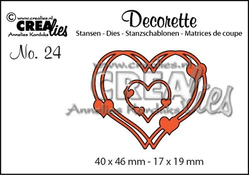 Crealies - Die - Decorette - No. 24 - Intertwined hearts