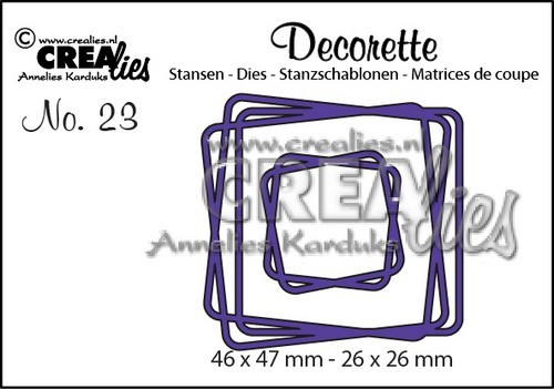 Crealies - Die - Decorette - No. 23 - Intertwined squares
