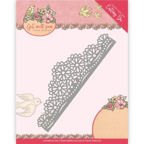 Yvonne Creations - Die - Get Well Soon - Flower border - YCD10102