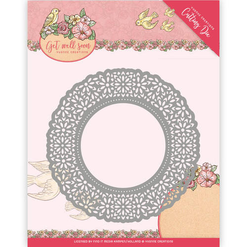 Yvonne Creations - Die - Get Well Soon - Flower Doily - YCD10101