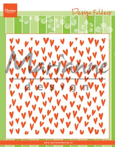 Marianne Design - Design Folder - Trendy Hearts - DF3438