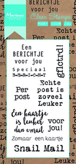 Marianne Design - Clearstamp - Post voor jou - CS0993
