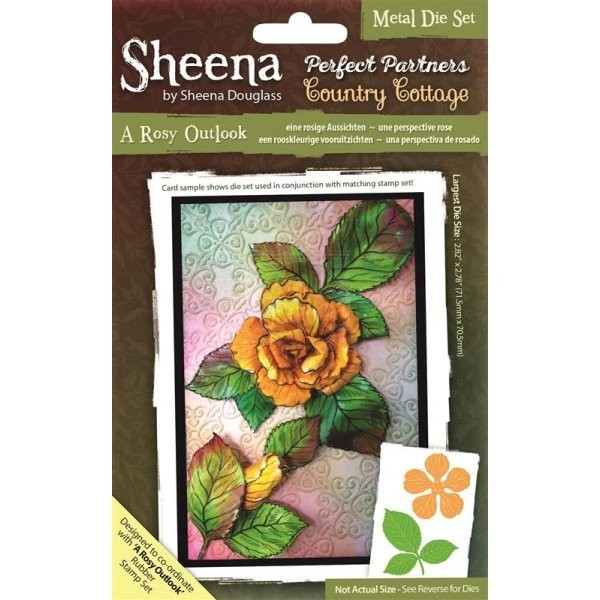Sheena Douglass - Die - Country Cottage - A Rosy Outlook