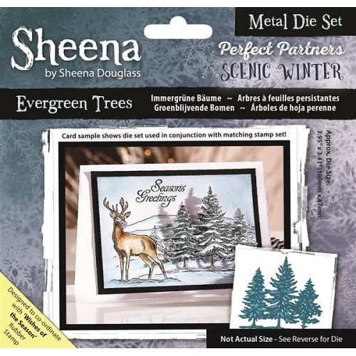 Sheena Douglass - Die - Scenic Winter - Evergreen Trees